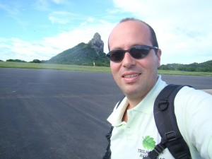 No aeroporto da Ilha