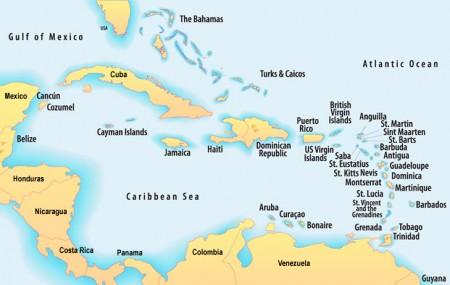 Mapa Caribenho