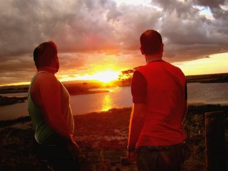 Paramos para assistir ao Pôr-do-Sol na Fazenda San Francisco, Miranda - MS