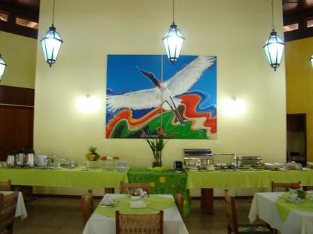 Mesas do café-da-manhã na Pousada Águas de Bonito, Bonito - MS