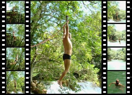 Tirolesa na Cachoeira da Carretilha - Parque das Cachoeiras, Bonito - MS