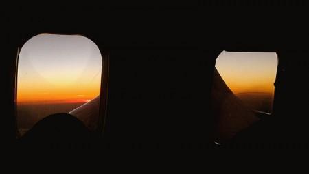 Ainda vimos o pôr-do-sol de despedida de Fortaleza no avião