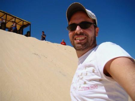 Foto tirada no meio da duna