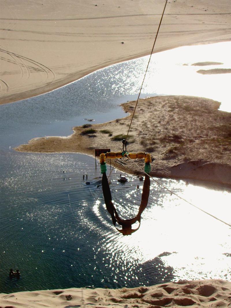 O ski-bunda visto de cima. Pura adrenalina!