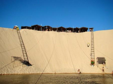Esse é o famoso sky-bunda de Canoa Quebrada
