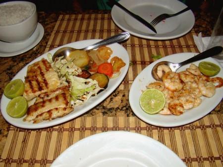 Frutos do Mar no Jantar do Restaurante Cabana - Canoa Quebrada