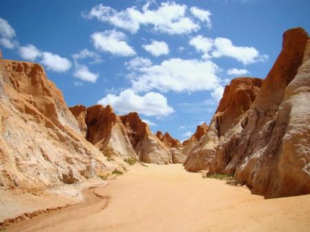 Labirinto de falésias em Morro Branco