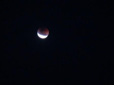Eclipse Lunar na estrada para Jericoacoara