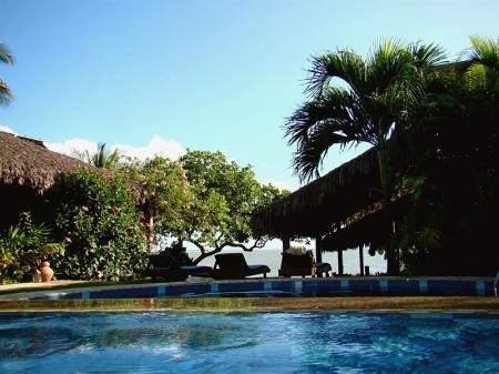 A piscina da Pousada Jeribá