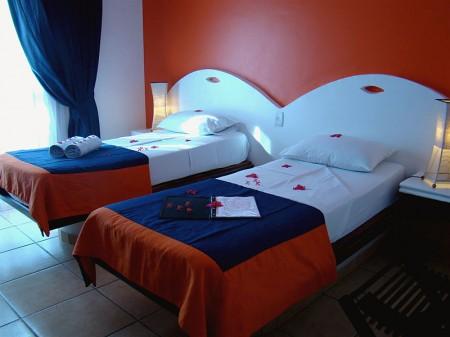 Nosso quarto no My Blue Hotel