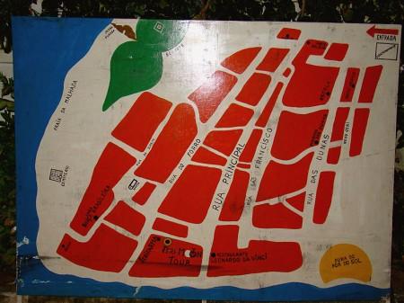 O mapa de Jericoacoara dá pra decorar fácil!