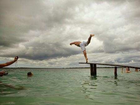 Trampolim na Lagoa do Paraiso