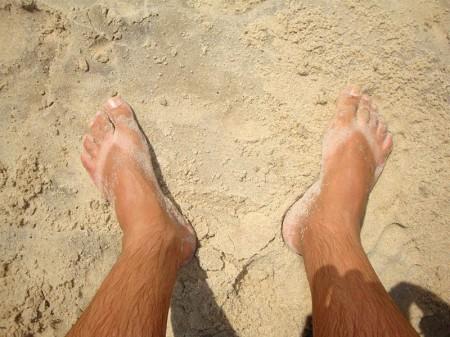 Pé na areia na Praia do Futuro - Fortaleza