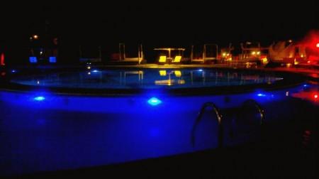 Primeira impressão da piscina do hotel