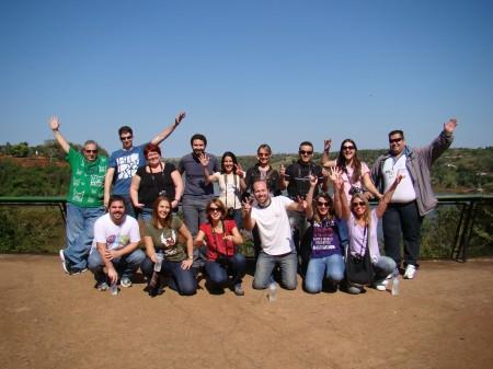 Galera do BlogTurFoz reunida no Marco das Três Fronteiras