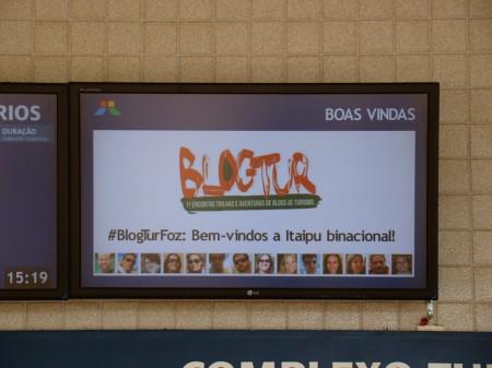 As boas-vindas na tv da Itaipu para o BlogTur