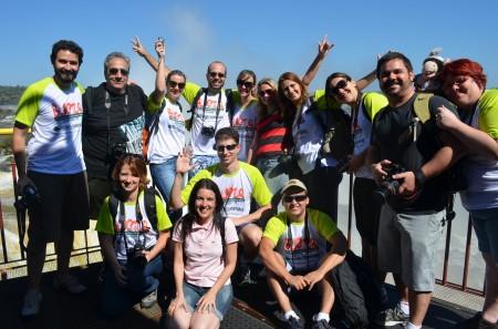 Os 14 Blogueiros nas Cataratas do Iguaçu