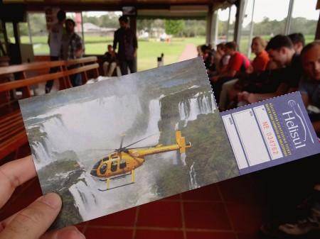 Bilhete do Voo de Helicóptero em Foz do Iguaçu