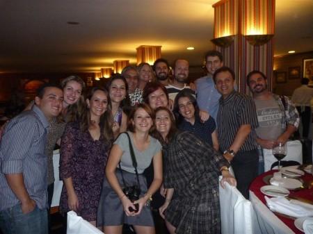 Blogueiros com o Marcelo Valente na Noite Italiana