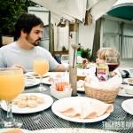 Pedro Serra (@blogsemdestino) e seu filho Gabriel no IMS