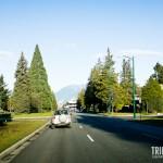 Estrada do Aeroporto para o centro de Vancouver