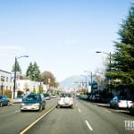 Belas paisagens chegando em Vancouver