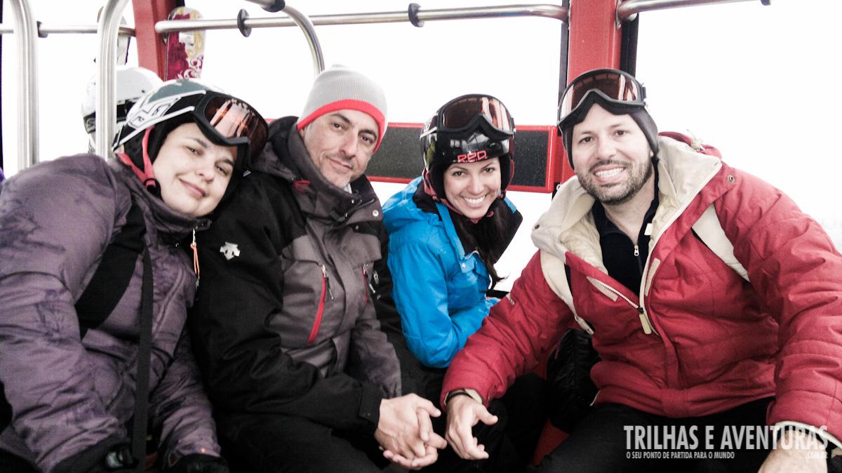 Turma de jornalistas da viagem ao Canadá