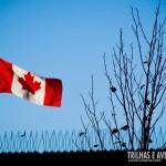 Bandeira do Canadá em Granville Island