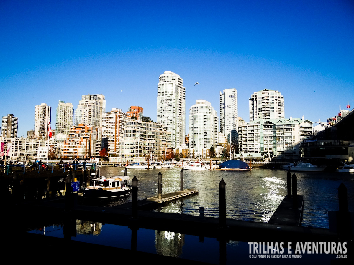 Uma bela vista para False Creek
