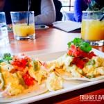 Tortilhas com ovos mexidos