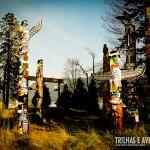 Os típicos totens canadenses do Stanley Park