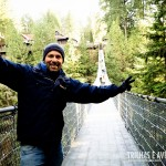 Atravessando a Capilano Suspension Bridge