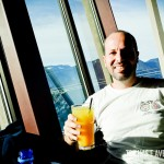 O belo visual do Altitudes Bistro em Grouse Mountain