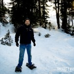 Praticando Snow Shoeing em Grouse Mountain