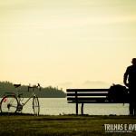Curtindo um belo fim de tarde no Stanley Park