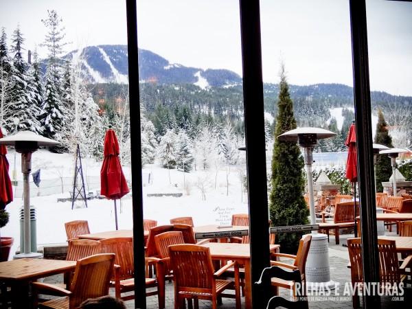Almoço com vista para as Montanhas de Whistler de brinde