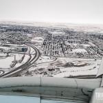 A cidade de Calgary fica toda coberta de neve no inverno
