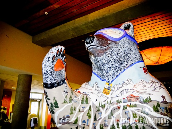 Spirit Bear dá as boas vindas aos esquiadores