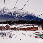 Vista da gôndola para o Lake Louise Ski Area