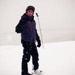 Olha o Rafael em sua primeira aula de Snowboard em Whistler