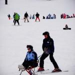 Os portadores de deficiência física também se divertem em Whistler