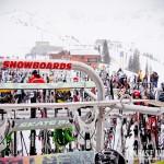 """""""Estacione"""" seus skis e pranchas de snow enquanto almoça"""