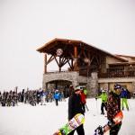 O Roundhouse Lodge fica no topo da montanha de Whistler