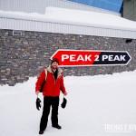 No topo de Blackcomb, através das gôndolas da PEAK 2 PEAK
