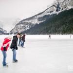 Queria tanto saber patinar para me jogar de patins no Lake Louise