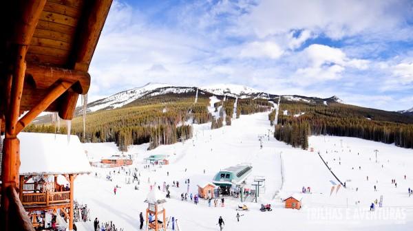 Panorâmica da Estação Lake Louise Ski Area