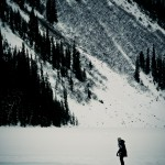 Patinação no gelo no Lake Louise