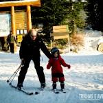 """Ensaiando seus primeiros """"passos"""" na neve"""