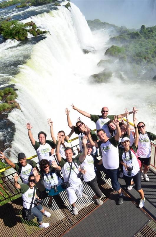 A foto oficial do BlogTurFoz nas Cataratas do Iguaçu