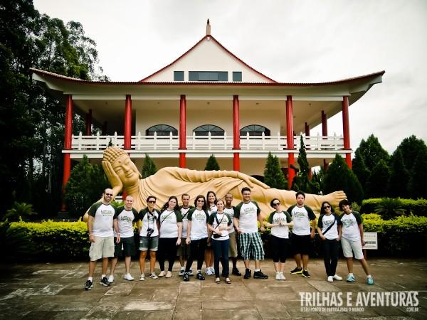 Blogueiros reunidos no Templo Budista em Foz do Iguaçu